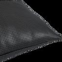 Coussin en simili gris anthracite 43x43cm-BETON