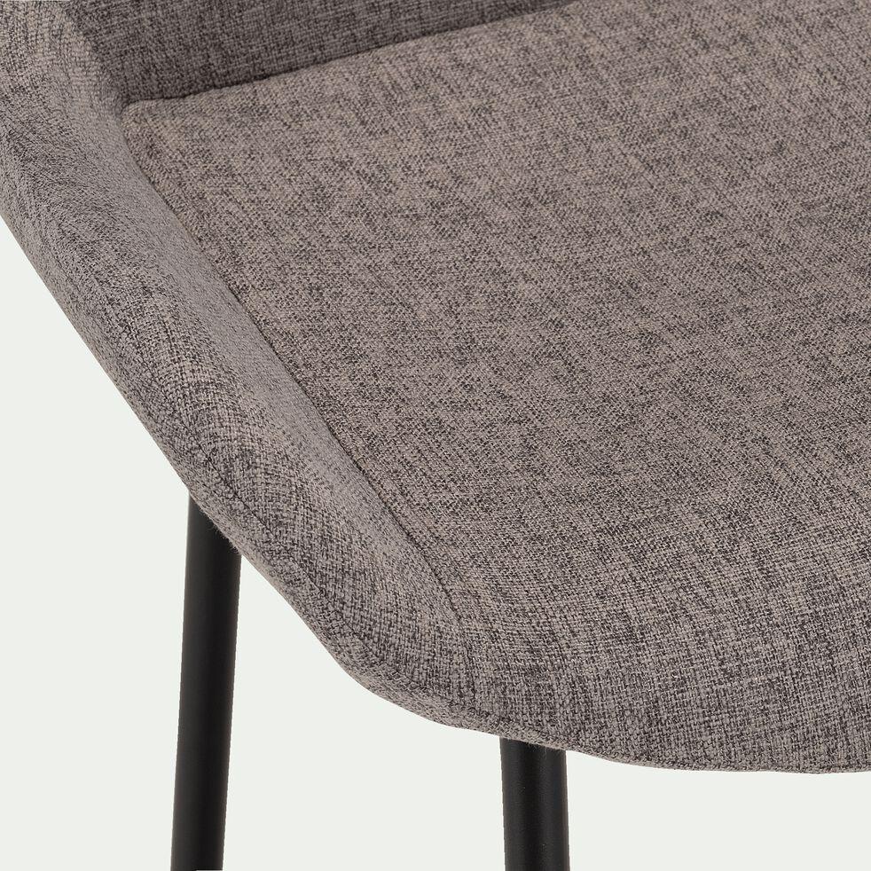 Chaise de bar en tissu gris anthracite H66cm-GEDEON
