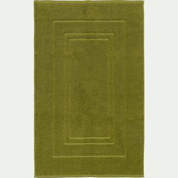 Tapis de bain en coton peigné - vert garrigue 50x80cm-AZUR