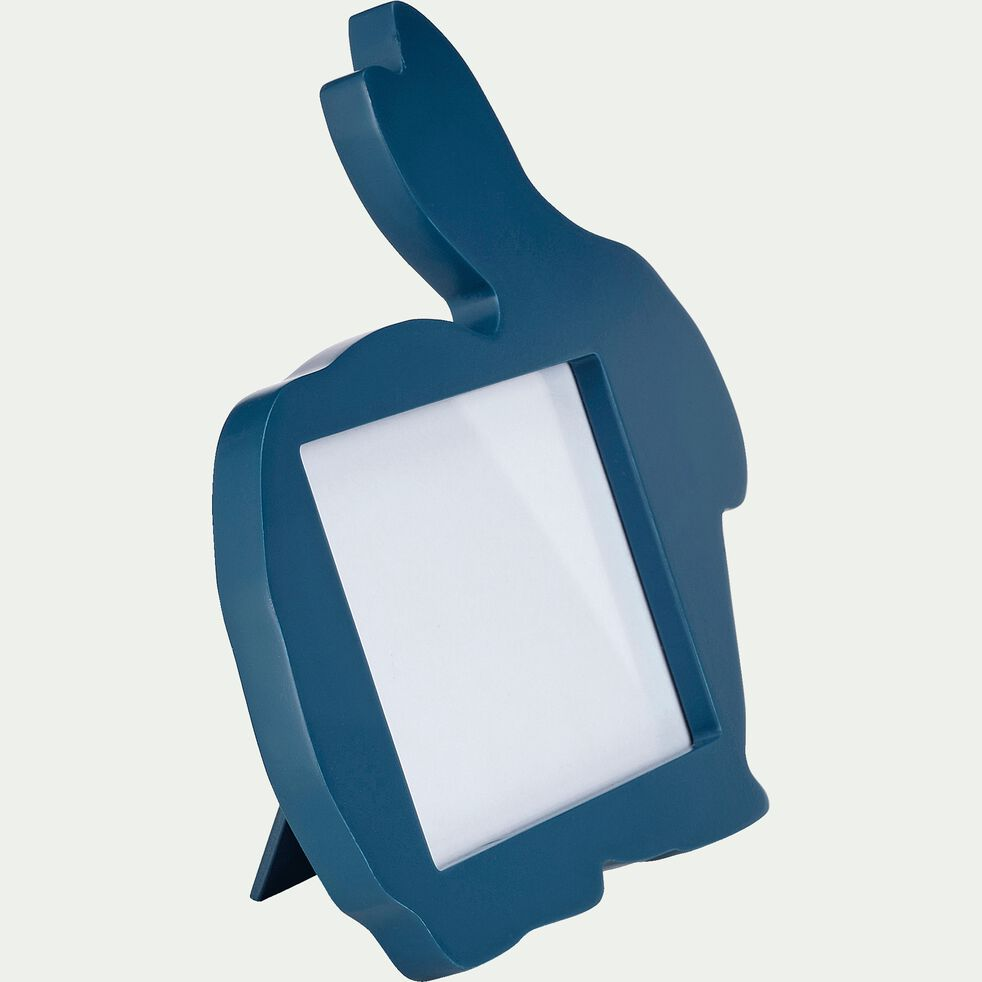 Cadre photo forme lapin - bleu figuerolles-Besti