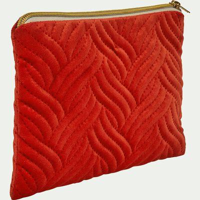 Pochette en coton - orange 16x28cm-AMBRINE