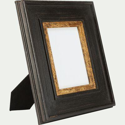 Cadre photo à poser en bois - noir 18x13cm-LOUISE
