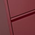 Meuble à chaussures en acier Rouge sumac - 8 paires-LOFTER