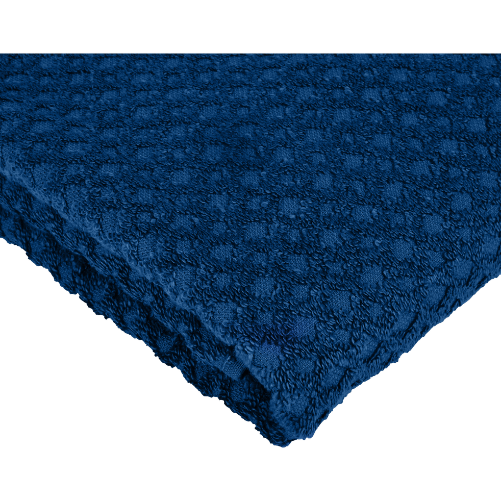 Serviette invité en coton 30x50cm bleu figuerolles-ETEL
