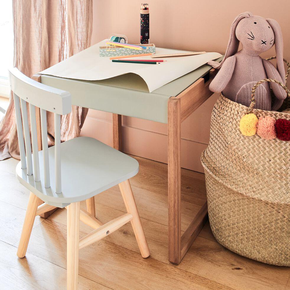 Bureau pour enfant en acacia vert olivier-Ludot