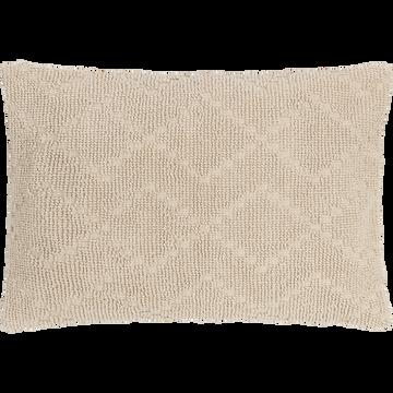Coussin rectangulaire en coton beige roucas 40x60cm-LANI
