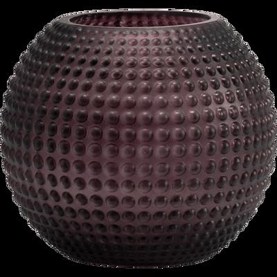 Vase en verre violet H13cm-CAMELIA