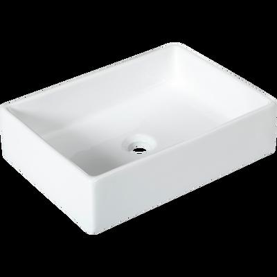 Vasque à poser rectangulaire blanche 46x33x12 cm-ITAQUE