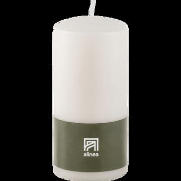 Bougie cylindrique blanc ventoux-HALBA