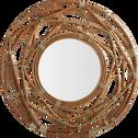 Miroir rond en kubu D90cm-LUTEA