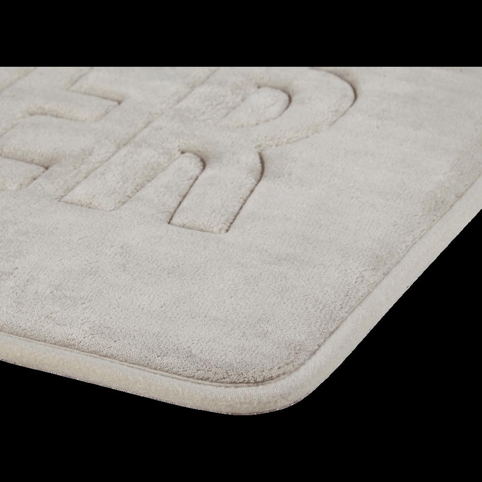 Tapis de bain 50x80cm à mémoire de forme taupe-WATER