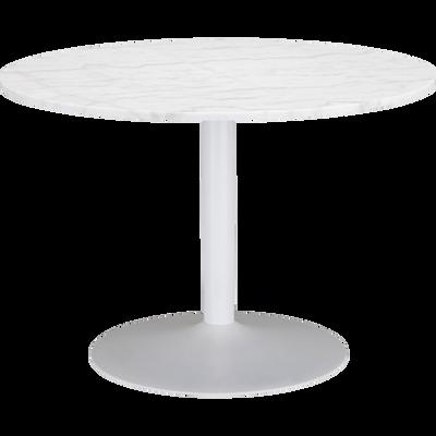 Table de repas ronde en marbre blanc - 5 places-SICILE