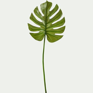 Feuille artificielle de monstera - vert H74cm-MONTERA
