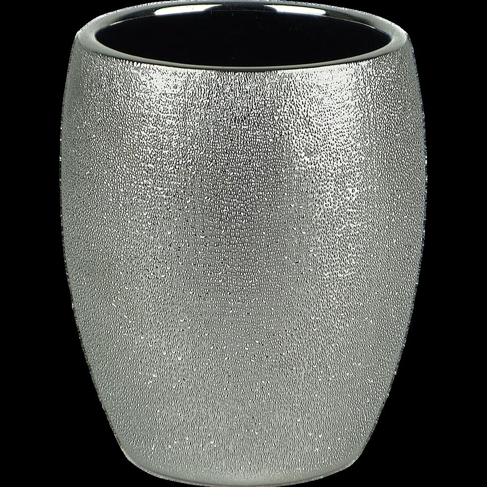Gobelet en grès argenté-TESS