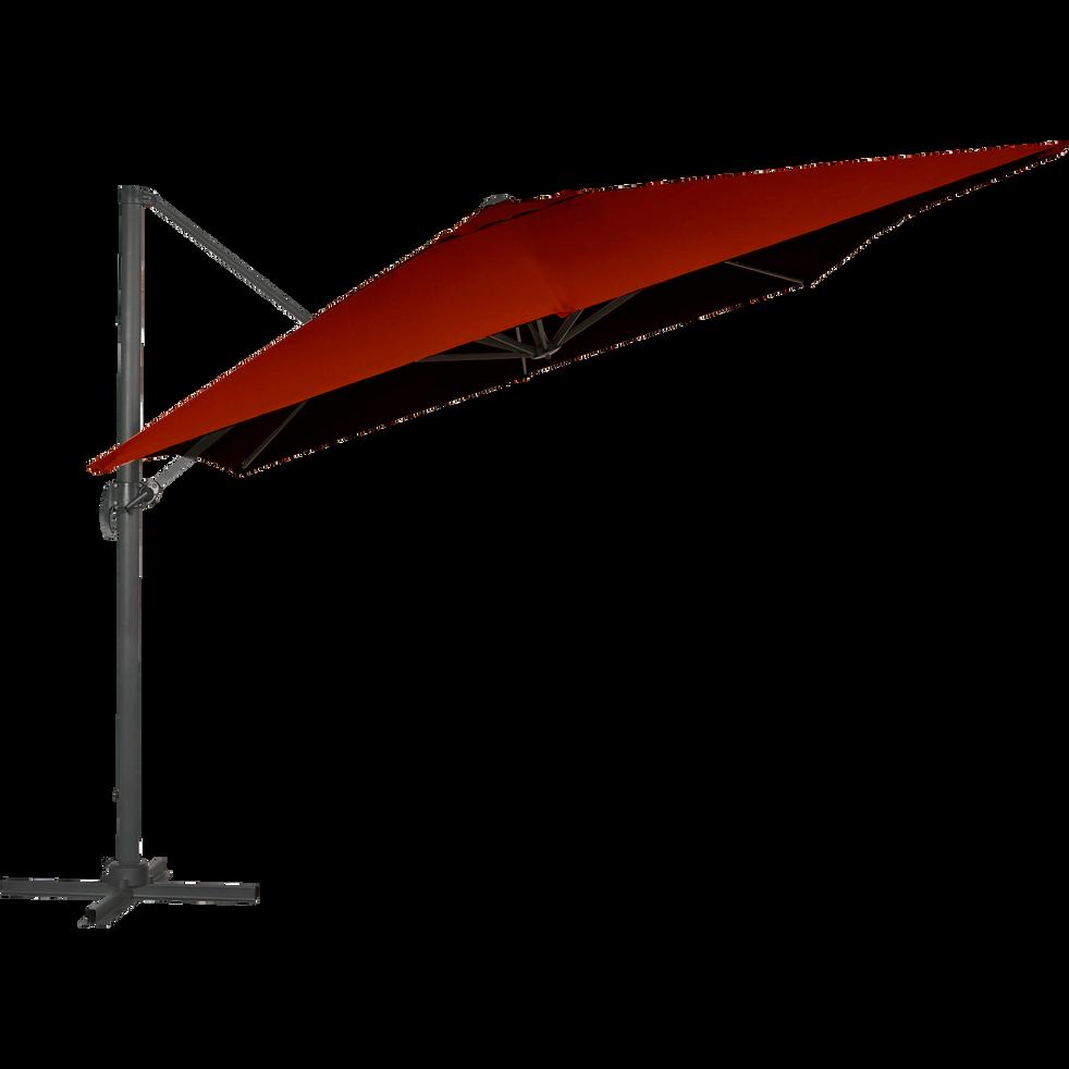 Parasol déporté rotatif 360° rouge-Irati