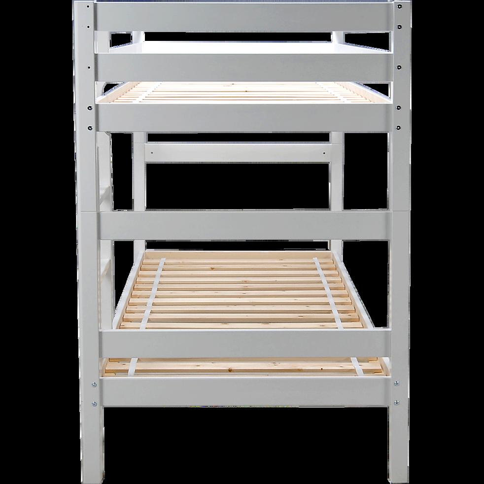 lits superpos s 1 place modulables blanc 2x90x200 cm extens 90x200 cm lits enfant alinea. Black Bedroom Furniture Sets. Home Design Ideas