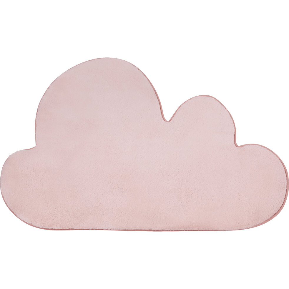 Tapis forme nuage rose-MORGIOU