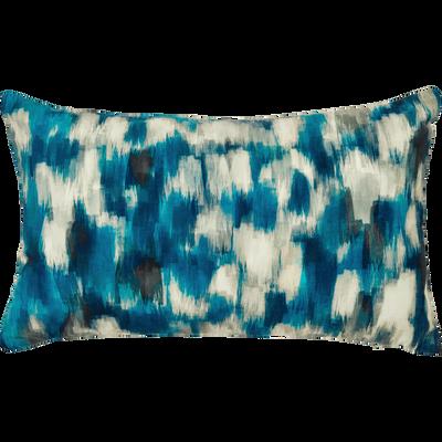 Coussin en coton à motifs bleu 30x50 cm-LATINA