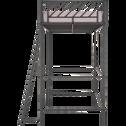 Lit mezzanine 1 place en métal noir - 90x190 cm-SLASH