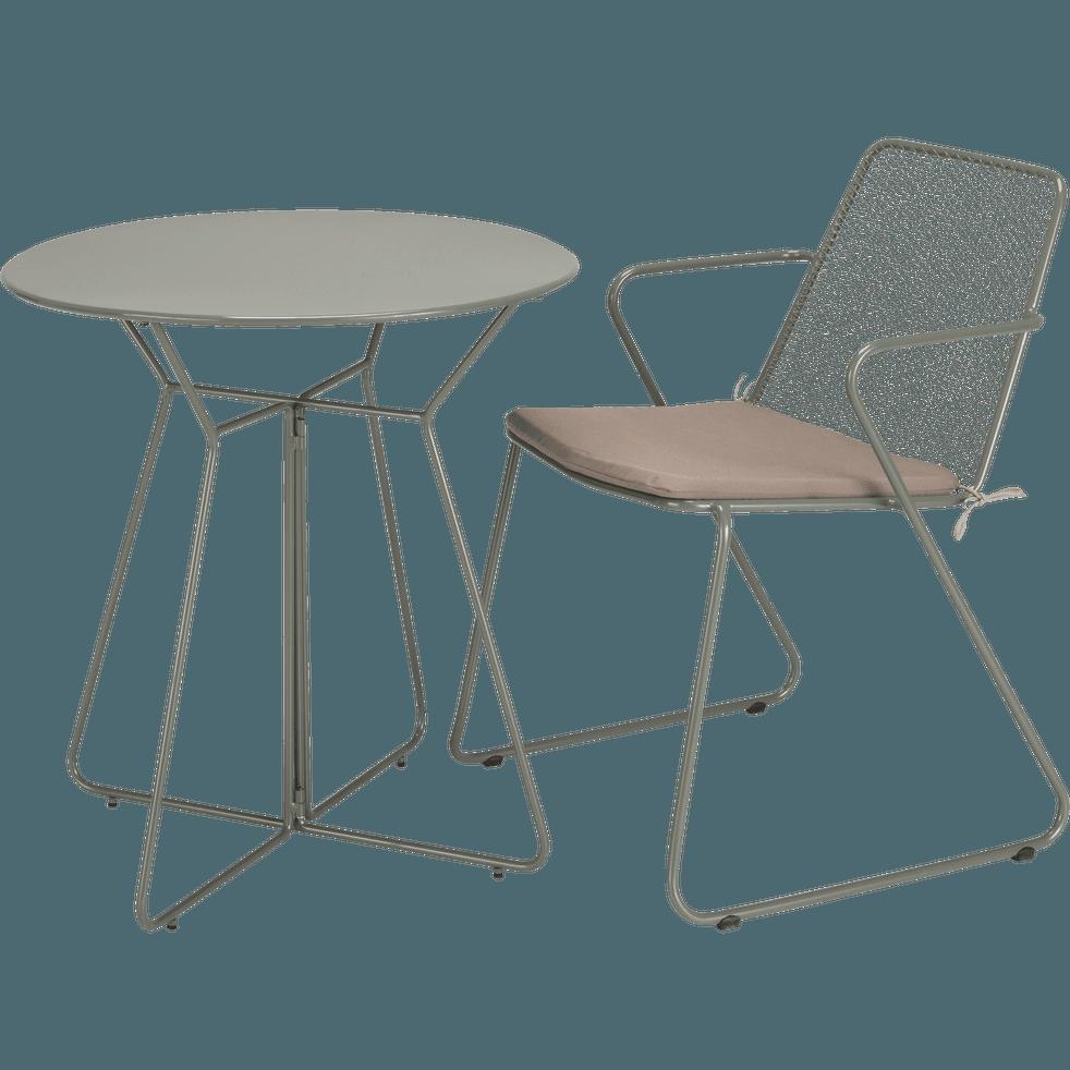 table de jardin ronde vert c dre 2 places alexia tables de jardin alinea