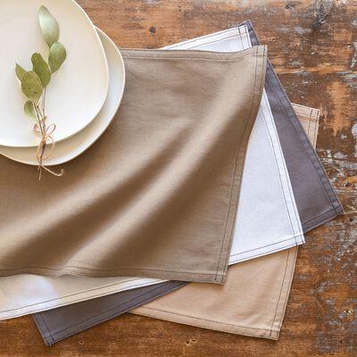 Set de table en coton beige alpilles 30x45cm-VENASQUE