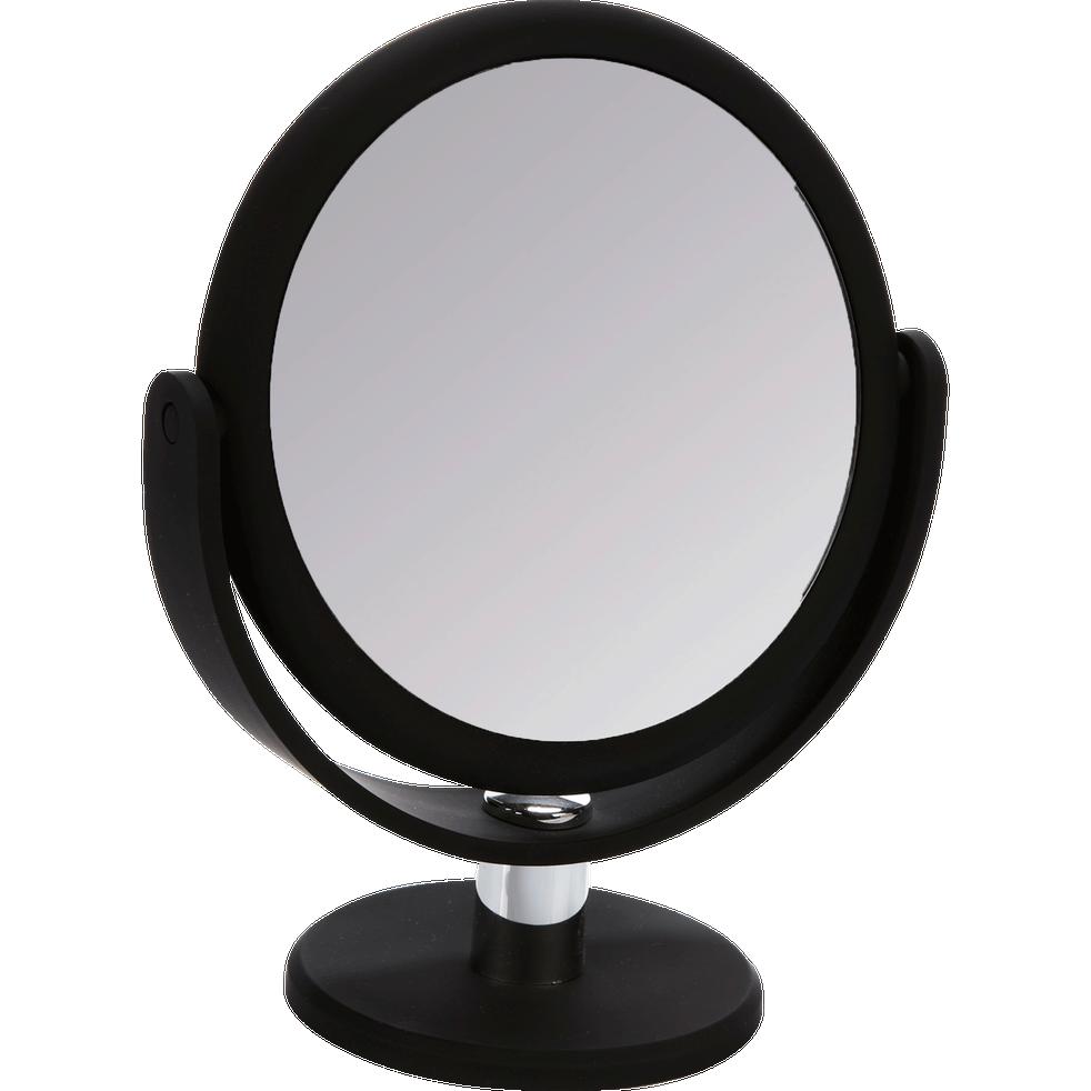 Petit miroir sur pied rond deux faces-Acia