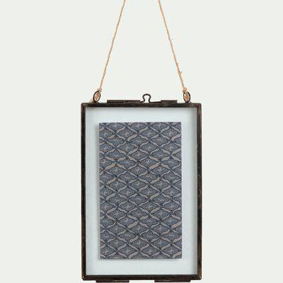 Cadre en fer effet rouillé - noir 10,8x16cm-CORTO