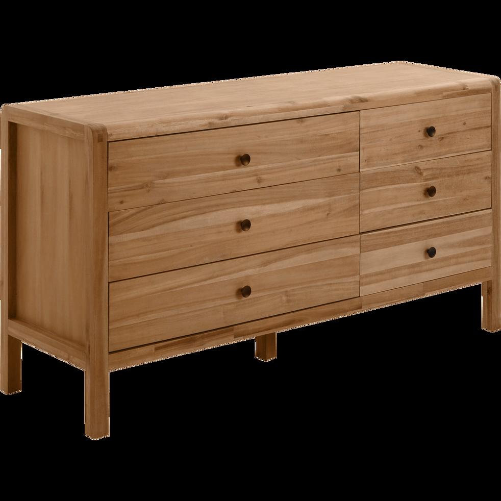commode 6 tiroirs en acacia gaia commodes alinea. Black Bedroom Furniture Sets. Home Design Ideas