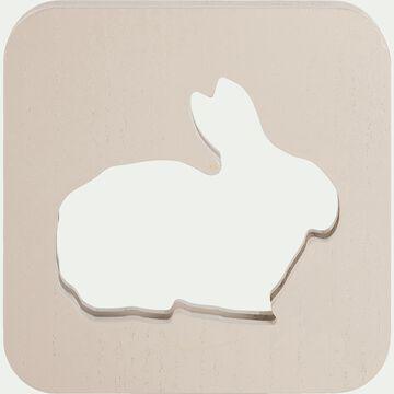 Déco lumineuse lapin en bois avec bande led non électrifié - beige alpilles-Clarour