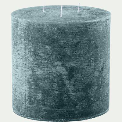 Bougie lanterne - bleu niolon D15xH15cm-BEJAIA