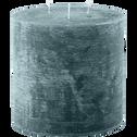 Bougie lanterne coloris bleu niolon D15xH15cm-BEJAIA