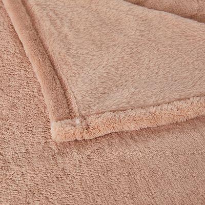 Plaid effet polaire - rose argile 130x170cm-ROBIN