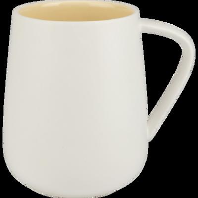 Mug en porcelaine blanche et jaune 48cl-MADONE
