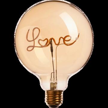 Ampoule décorative LED D12,5cm culot E27-LOVE