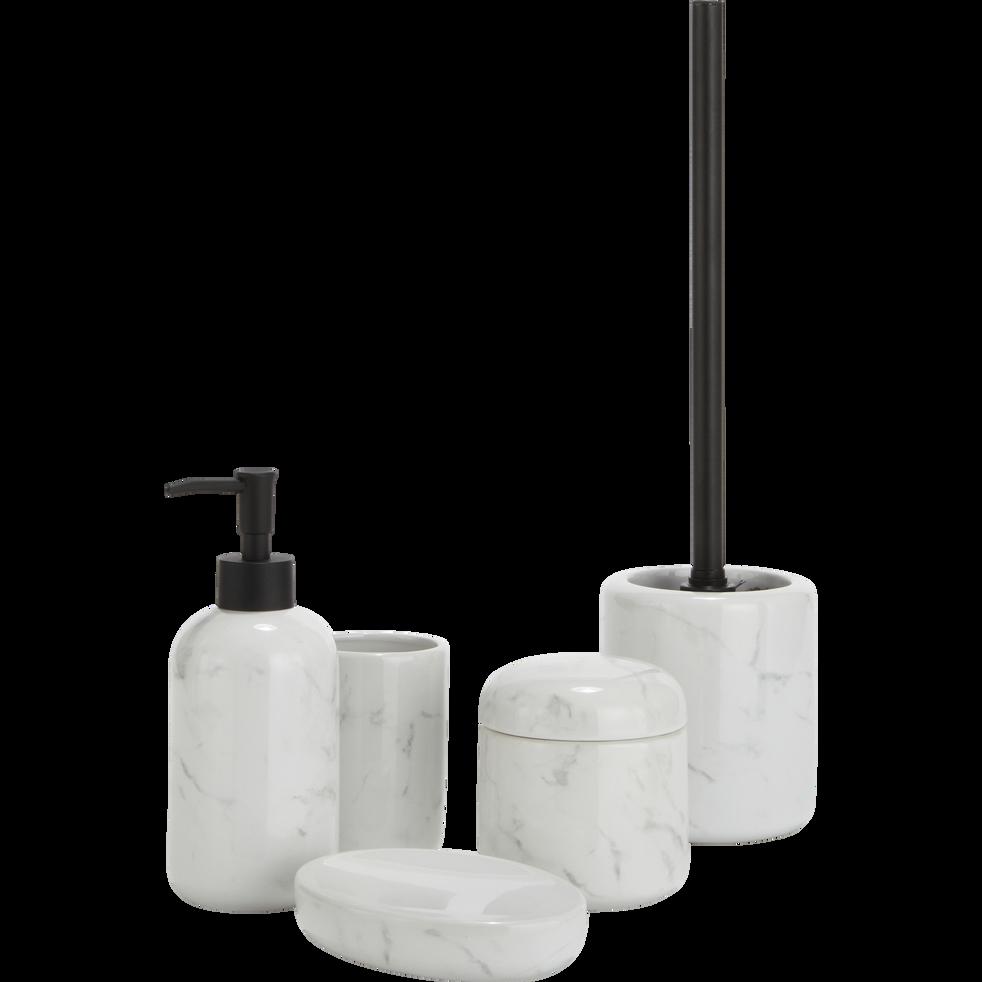 Boîte à coton effet marbre blanc-MOUNE