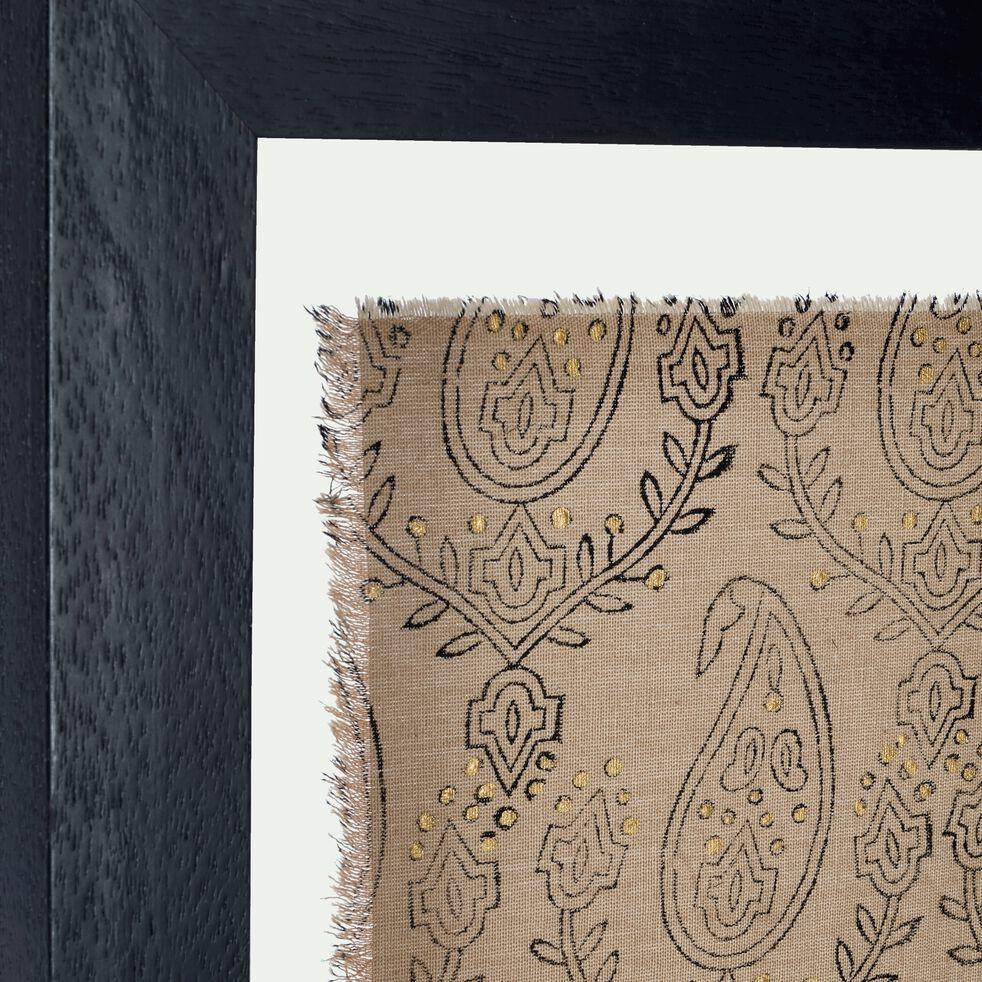 Magasin De Tissus Salon De Provence verone - tissu encadré oriental 50x40cm