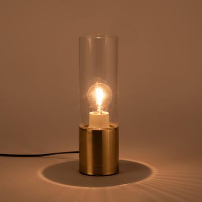 Lampe à poser en verre et en métal doré h30xD9cm-IDEA