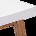 Tabouret bicolore bois et blanc - H60cm-BULUH
