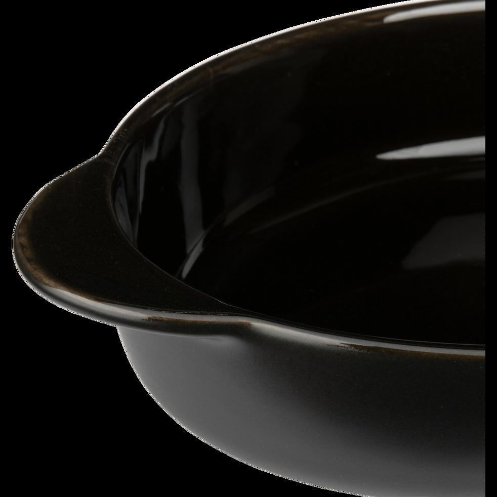 Plat à four ovale en grès noir L21cm-MIOU