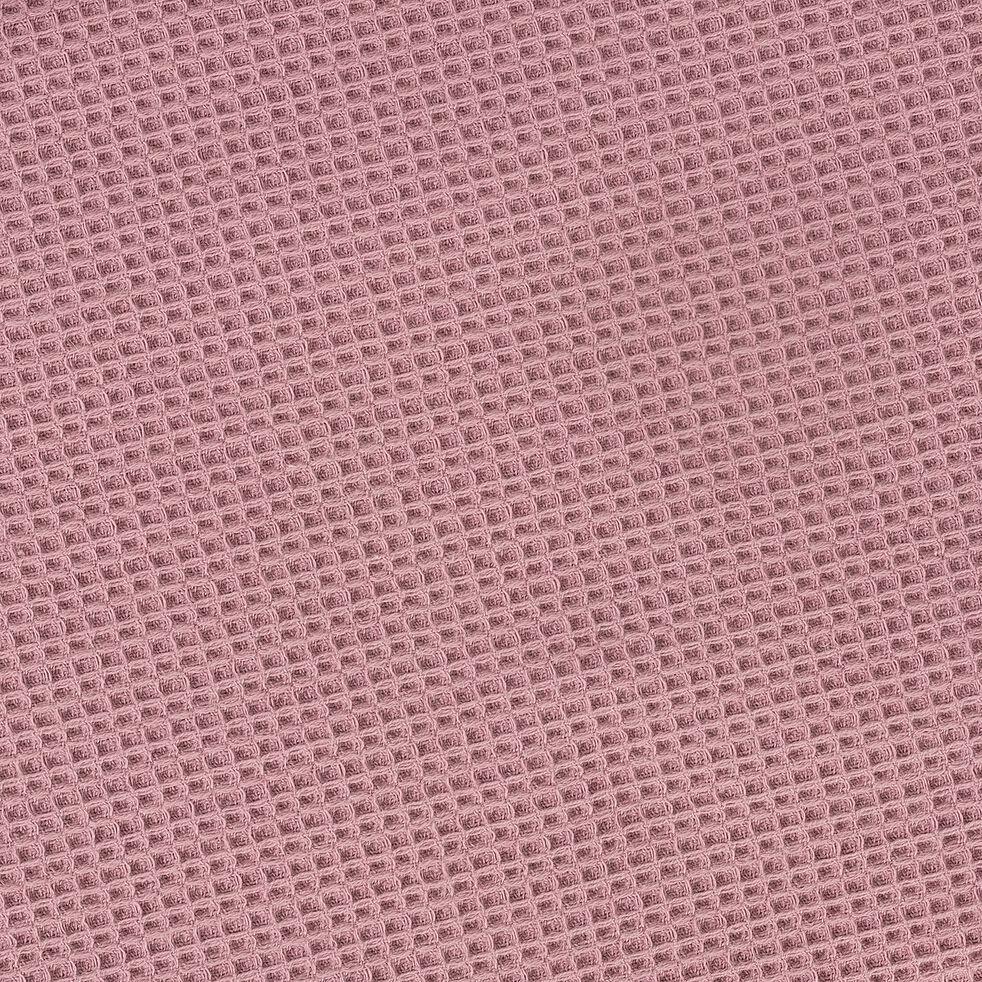 Serviette invité nid d'abeille en coton - rose 30x50cm-JELENA