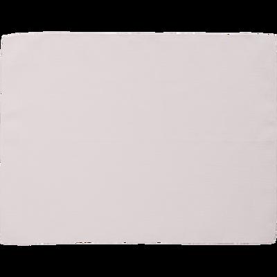 Set de table en lin et coton blanc nougat 36x48cm-MILA