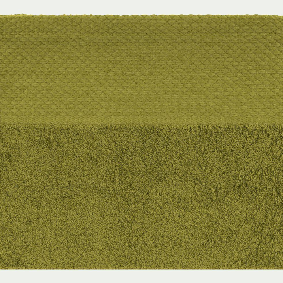Linge de toilette en coton peigné- vert garrigue-AZUR