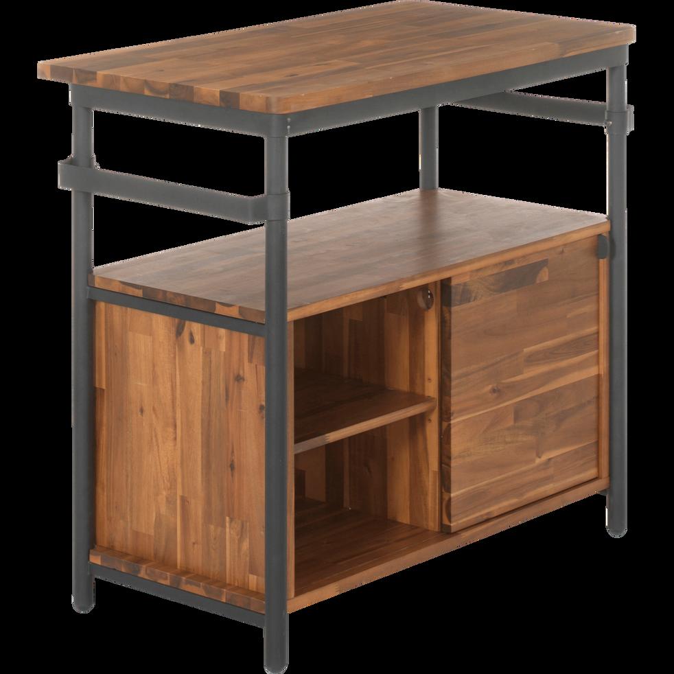 meuble sous vasque en acacia et m tal 90cm kota 90 cm meubles sous vasques alinea. Black Bedroom Furniture Sets. Home Design Ideas