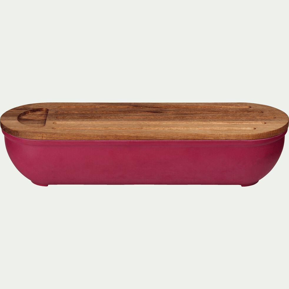 Boîte à pain en bambou rouge sumac-FOUGAS