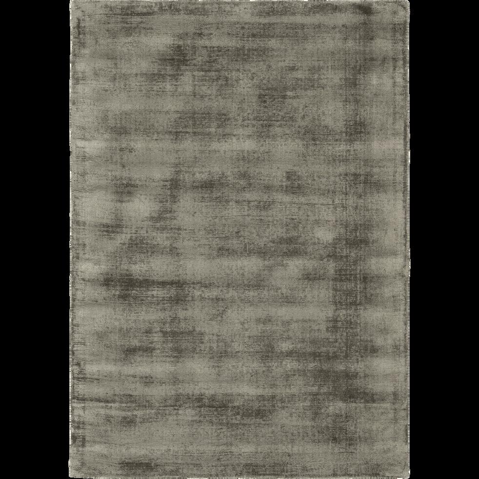 Tapis moiré vert cèdre 160x230cm-EDEN