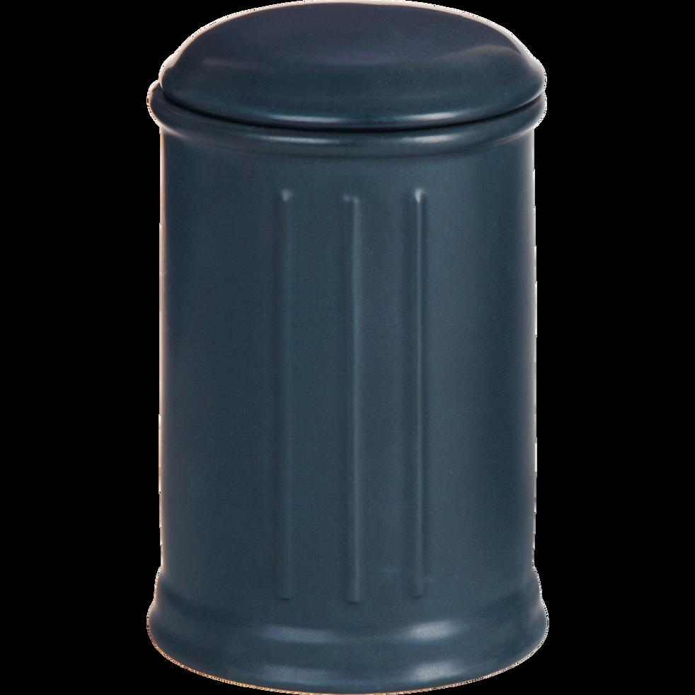 Pot à coton en céramique noir-MECA