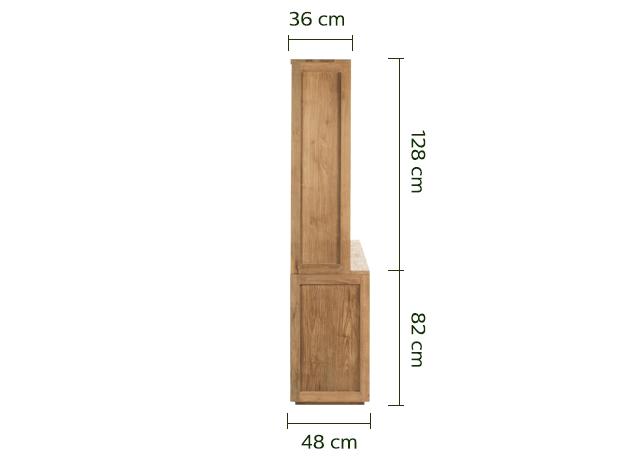 Vaisselier en teck recyclé L215cm - Livré monté-Emotion