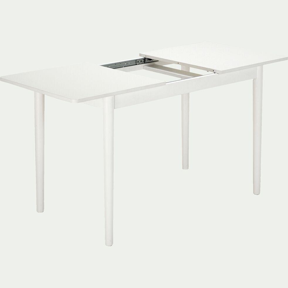 Table extensible en bois - blanc 4 à 6 convives-PEDRO