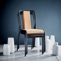 Chaise en chêne et métal-SIDONIE