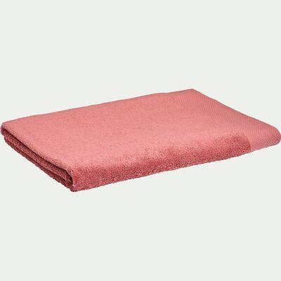 Drap de bain en coton peigné - rouge ricin 100x150cm-AZUR